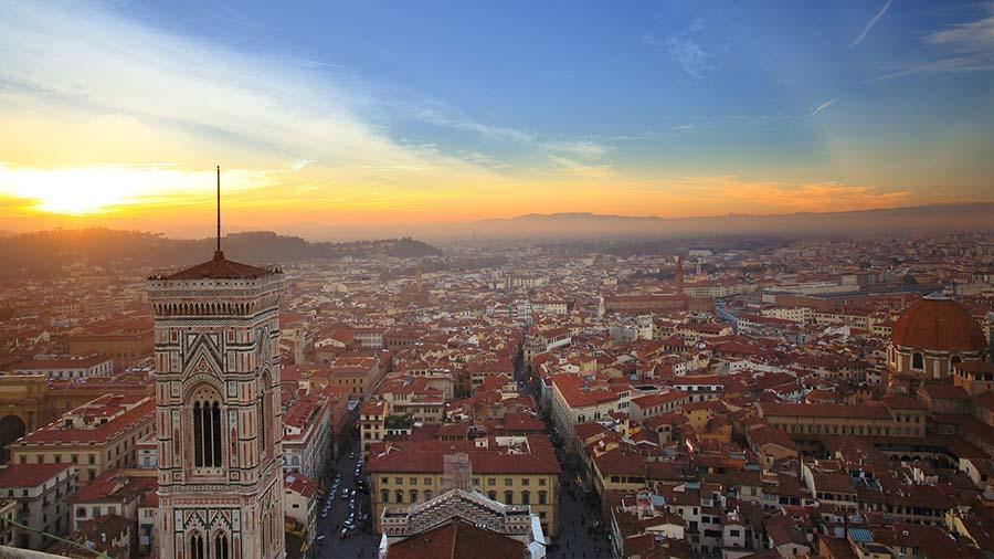 Vista cúpula Duomo de Florencia