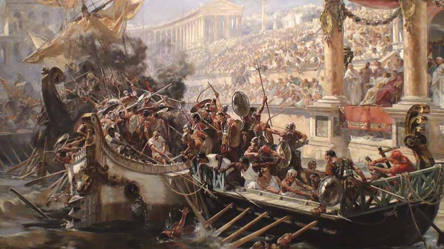 batallas navales en el coliseo