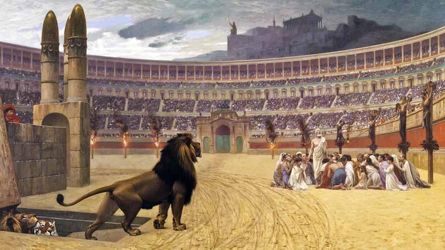 cristianos martirizados en el Anfiteatro Flavio
