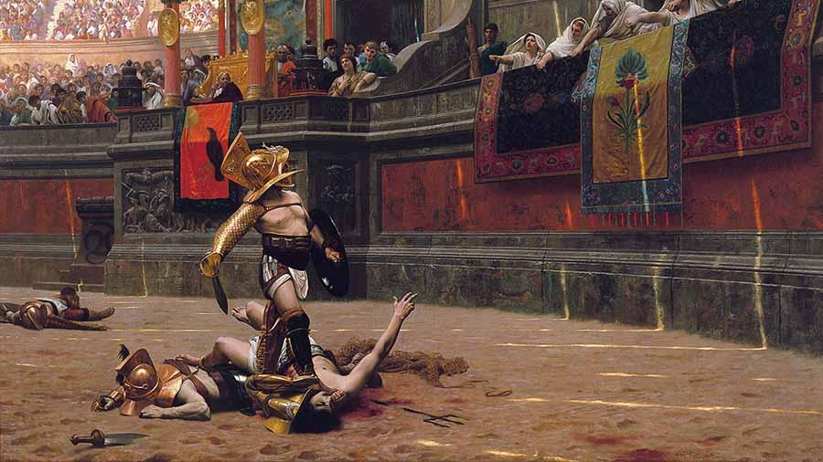 gladiadores en el coliseo