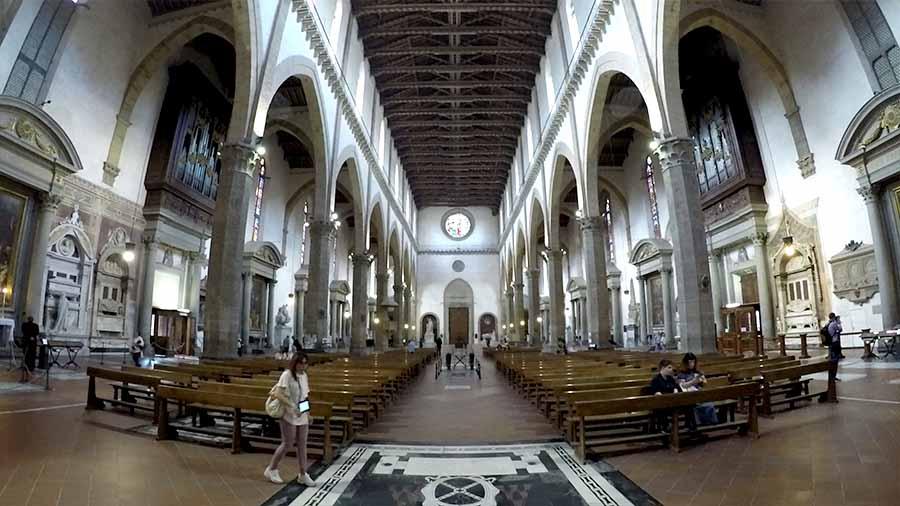 interior basílica santa croce