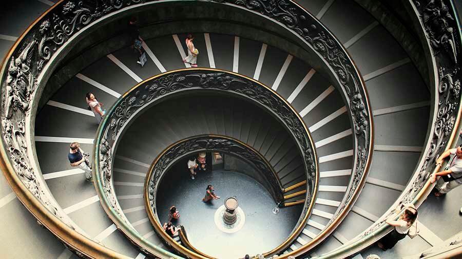Escalera Helicoidal museos vaticanos