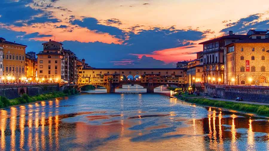 Ponte Vecchio atardecer