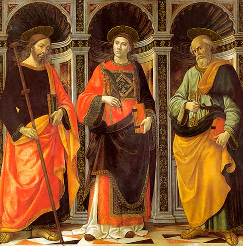 I Santi Stefano Giacomo, Maggiore y Pietro de Ghirlandaio