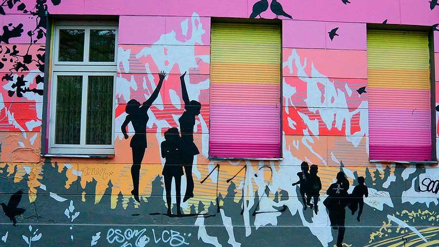 Gráfitis barrio turco de Berlín