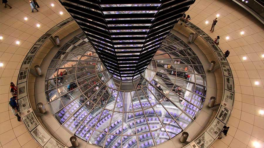 Interior cúpula del Reichstag