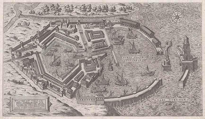 mapa puerto de roma