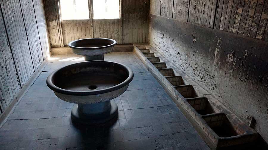 Letrinas en Sachsenhausen