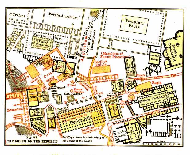 foro romano mapa