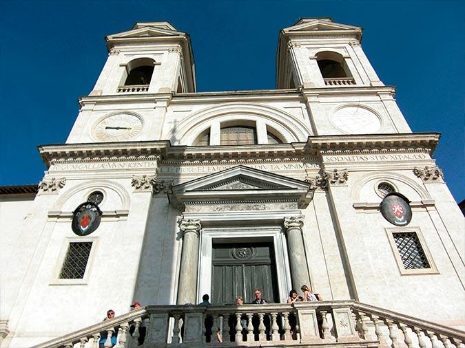 iglesia santa trinita dei monti roma