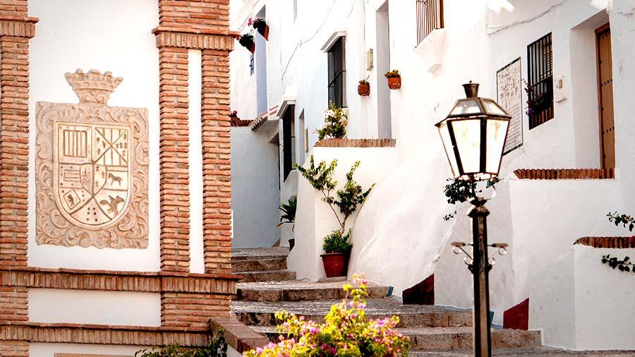 Calles de Frigiliana, Málaga.