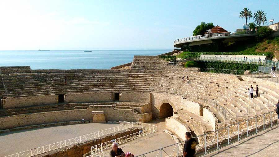 Anfiteatro de Tarraco ciudad romana en España.