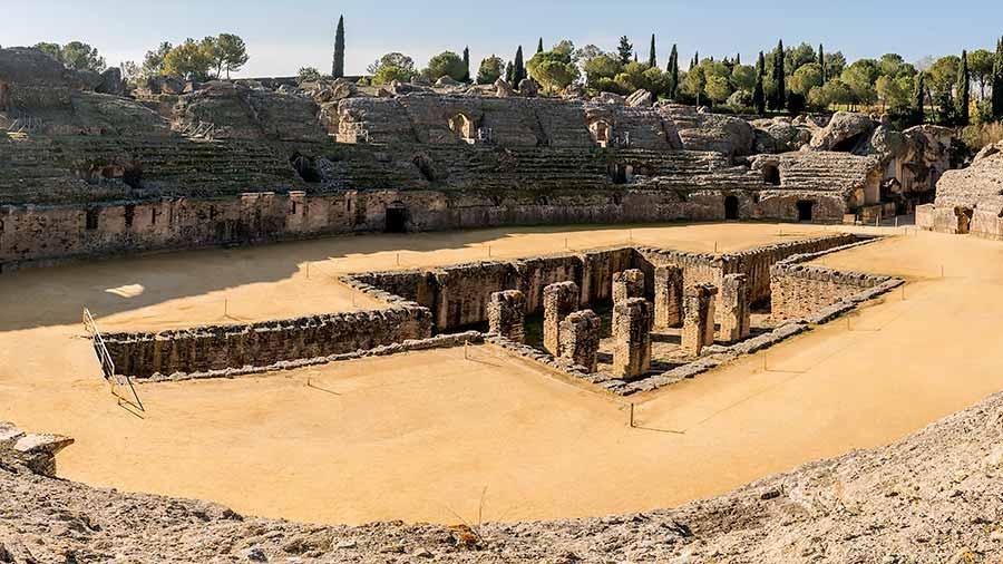 Itálica, uno de los monumentos de los romanos en España.