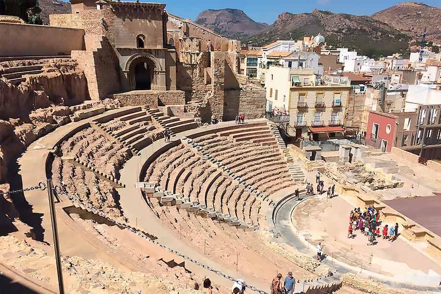 El teatro romano de Cartagena es uno de los monumentos romanos en España más importantes.
